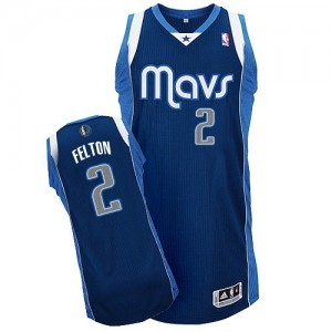 Maillot Authentic Dallas Mavericks NBA Alternate Bleu marin - #2 Raymond Felton - Homme