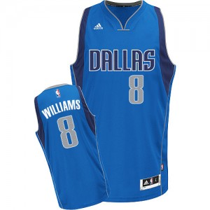 Maillot Adidas Bleu royal Road Swingman Dallas Mavericks - Deron Williams #8 - Homme