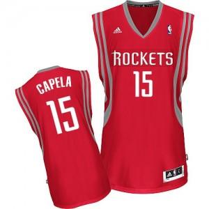 Houston Rockets #15 Adidas Road Rouge Swingman Maillot d'équipe de NBA la meilleure qualité - Clint Capela pour Homme