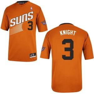 Phoenix Suns Brandon Knight #3 Alternate Authentic Maillot d'équipe de NBA - Orange pour Homme