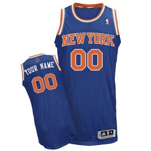 Maillot NBA Authentic Personnalisé New York Knicks Road Bleu royal - Homme