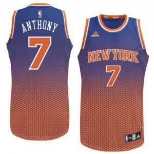 Maillot NBA Swingman Carmelo Anthony #7 New York Knicks Resonate Fashion Bleu - Homme