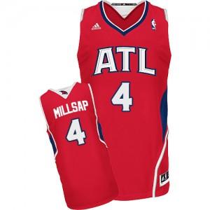 Maillot Adidas Rouge Alternate Swingman Atlanta Hawks - Paul Millsap #4 - Homme