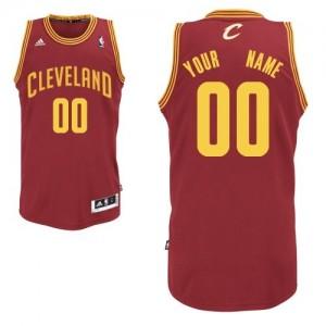 Maillot NBA Vin Rouge Swingman Personnalisé Cleveland Cavaliers Road Enfants Adidas