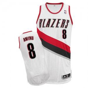 Maillot NBA Authentic Al-Farouq Aminu #8 Portland Trail Blazers Home Blanc - Homme