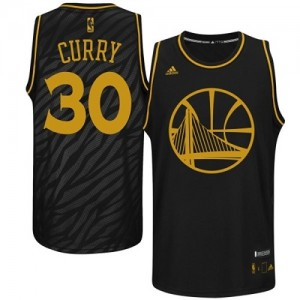 Maillot NBA Authentic Stephen Curry #30 Golden State Warriors Precious Metals Fashion Noir - Homme