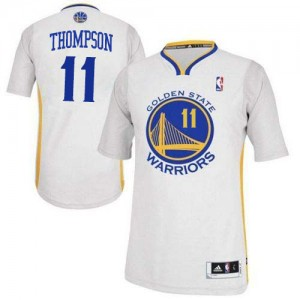 Golden State Warriors #11 Adidas Alternate Blanc Authentic Maillot d'équipe de NBA Peu co?teux - Klay Thompson pour Femme