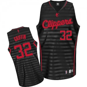 Maillot Adidas Gris noir Groove Authentic Los Angeles Clippers - Blake Griffin #32 - Homme