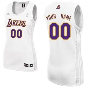 Los Angeles Lakers Swingman Personnalisé Alternate Maillot d'équipe de NBA - Blanc pour Femme