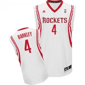 Maillot NBA Houston Rockets #4 Charles Barkley Blanc Adidas Swingman Home - Homme