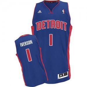 Maillot Swingman Detroit Pistons NBA Road Bleu royal - #1 Allen Iverson - Homme