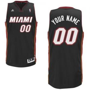 Maillot NBA Miami Heat Personnalisé Swingman Noir Adidas Road - Enfants
