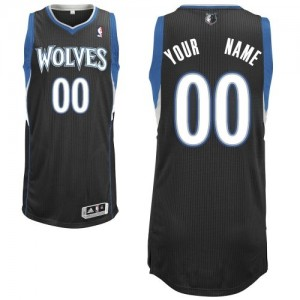 Maillot Minnesota Timberwolves NBA Alternate Noir - Personnalisé Authentic - Enfants