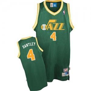 Utah Jazz Adrian Dantley #4 Throwback Swingman Maillot d'équipe de NBA - Vert pour Homme