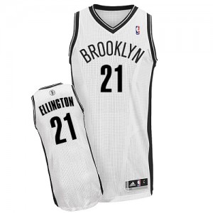 Maillot NBA Brooklyn Nets #21 Wayne Ellington Blanc Adidas Authentic Home - Homme