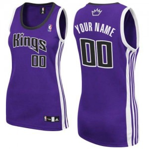 Maillot Sacramento Kings NBA Road Violet - Personnalisé Authentic - Femme