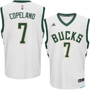 Milwaukee Bucks #7 Adidas Home Blanc Swingman Maillot d'équipe de NBA Expédition rapide - Chris Copeland pour Homme