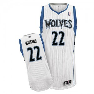 Maillot NBA Authentic Andrew Wiggins #22 Minnesota Timberwolves Home Blanc - Homme