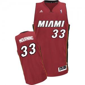 Maillot Adidas Rouge Alternate Swingman Miami Heat - Alonzo Mourning #33 - Homme