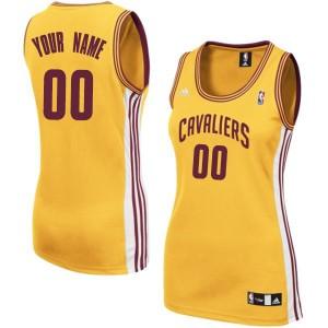 Cleveland Cavaliers Authentic Personnalisé Alternate Maillot d'équipe de NBA - Or pour Femme