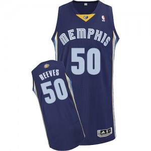 Maillot NBA Authentic Bryant Reeves #50 Memphis Grizzlies Road Bleu marin - Homme