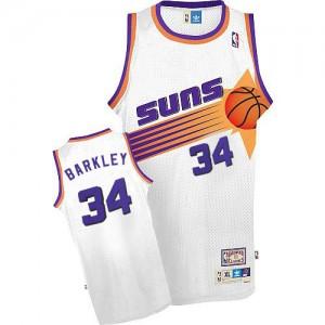Maillot NBA Authentic Charles Barkley #34 Phoenix Suns Throwback Blanc - Homme