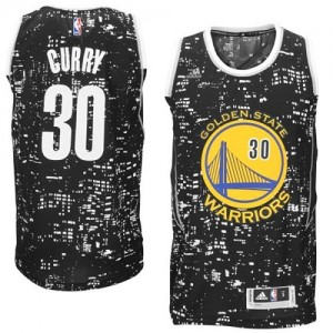 Maillot Adidas Noir City Light Authentic Golden State Warriors - Stephen Curry #30 - Homme