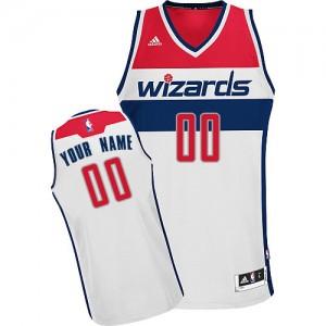 Maillot Adidas Blanc Home Washington Wizards - Swingman Personnalisé - Enfants