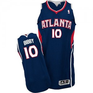 Maillot Adidas Bleu marin Road Authentic Atlanta Hawks - Mike Bibby #10 - Homme