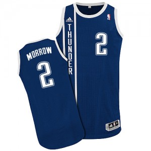 Maillot NBA Oklahoma City Thunder #2 Anthony Morrow Bleu marin Adidas Authentic Alternate - Homme