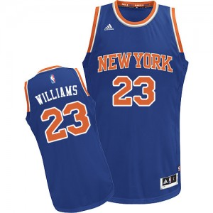 Maillot Swingman New York Knicks NBA Road Bleu royal - #23 Derrick Williams - Homme