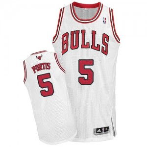 Maillot Adidas Blanc Home Authentic Chicago Bulls - Bobby Portis #5 - Homme