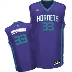 Maillot NBA Authentic Alonzo Mourning #33 Charlotte Hornets Alternate Violet - Homme