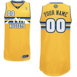 Denver Nuggets Personnalisé Adidas Alternate Or Maillot d'équipe de NBA Remise - Authentic pour Femme