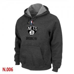 Pullover Sweat à capuche Brooklyn Nets NBA Gris foncé - Homme