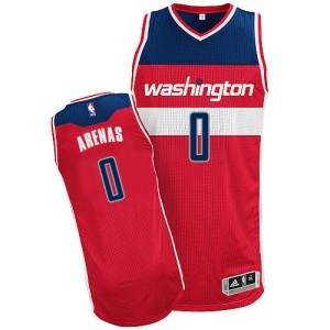 Maillot NBA Authentic Gilbert Arenas #0 Washington Wizards Road Rouge - Homme