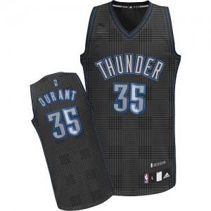 Maillot Swingman Oklahoma City Thunder NBA Rhythm Fashion Noir - #35 Kevin Durant - Femme
