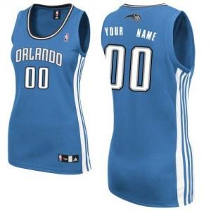 Maillot NBA Bleu royal Authentic Personnalisé Orlando Magic Road Femme Adidas