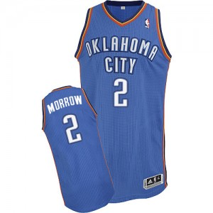 Oklahoma City Thunder #2 Adidas Road Bleu royal Authentic Maillot d'équipe de NBA Discount - Anthony Morrow pour Homme
