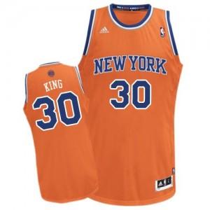 New York Knicks #30 Adidas Alternate Orange Swingman Maillot d'équipe de NBA Expédition rapide - Bernard King pour Homme