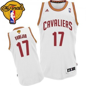 Maillot NBA Cleveland Cavaliers #17 Anderson Varejao Blanc Adidas Swingman Home 2015 The Finals Patch - Homme