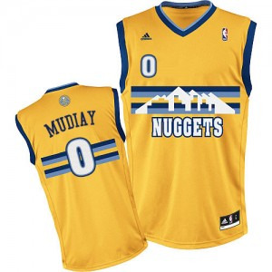 Maillot Swingman Denver Nuggets NBA Alternate Or - #0 Emmanuel Mudiay - Homme