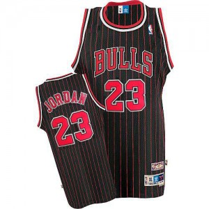 Maillot NBA Noir Rouge Michael Jordan #23 Chicago Bulls Throwback Swingman Homme Adidas