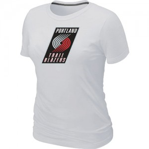 Tee-Shirt Blanc Big & Tall Portland Trail Blazers - Femme