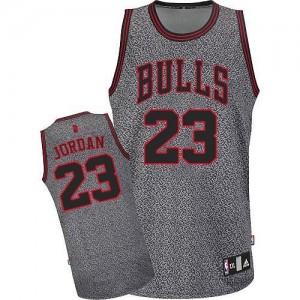 Maillot NBA Gris Michael Jordan #23 Chicago Bulls Static Fashion Authentic Homme Adidas