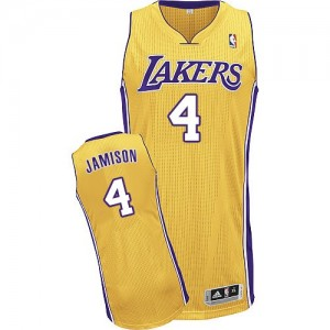 Maillot Adidas Or Home Authentic Los Angeles Lakers - Byron Scott #4 - Homme