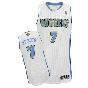 Maillot Adidas Blanc Home Authentic Denver Nuggets - JJ Hickson #7 - Homme