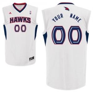 Maillot NBA Blanc Swingman Personnalisé Atlanta Hawks Home Homme Adidas