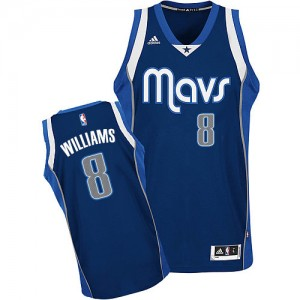 Maillot Adidas Bleu marin Alternate Swingman Dallas Mavericks - Deron Williams #8 - Femme