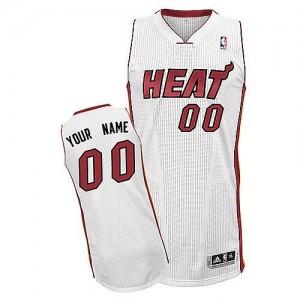 Miami Heat Authentic Personnalisé Home Maillot d'équipe de NBA - Blanc pour Enfants